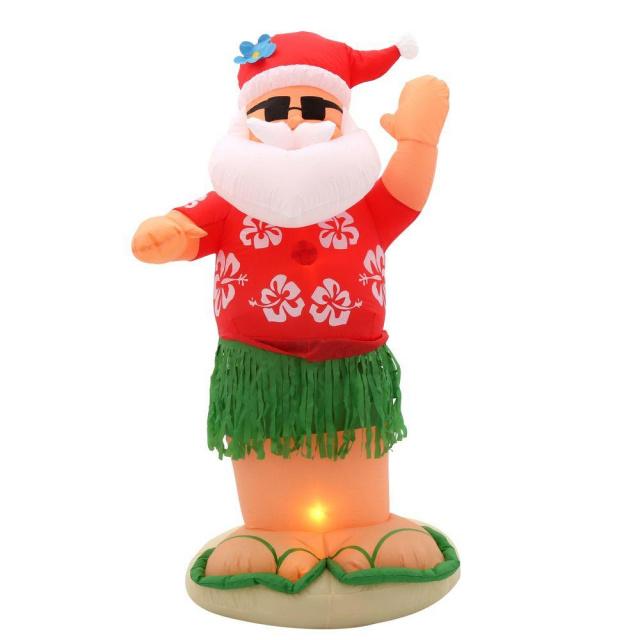 Christmas Inflatable.Santa Hula Dancer Christmas Inflatable